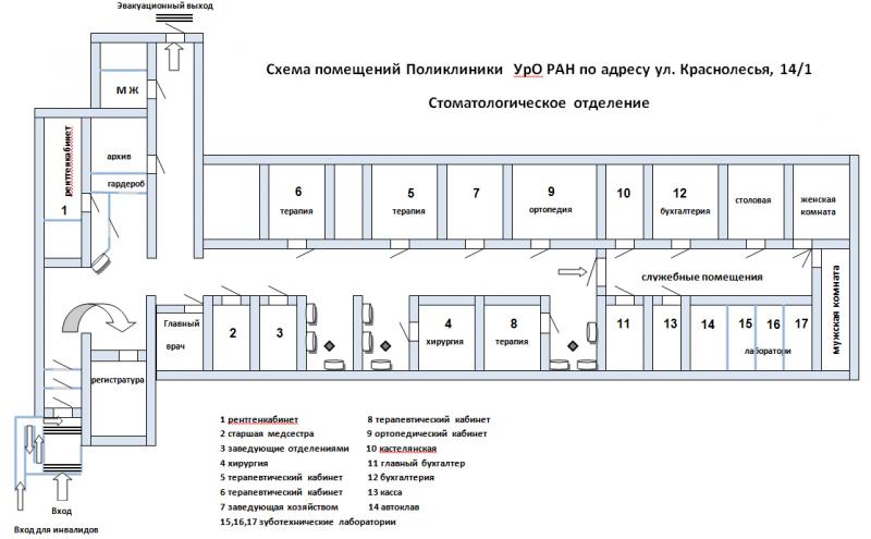План поликлиники схема